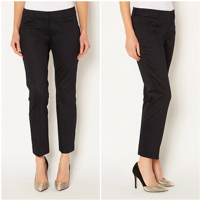 Witchery Satin Cropped Trousers