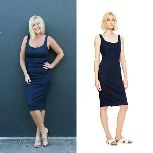 The Denim Pencil Dress Edit