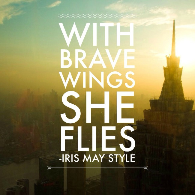 Sentimental Me:With Brave Wings She Flies