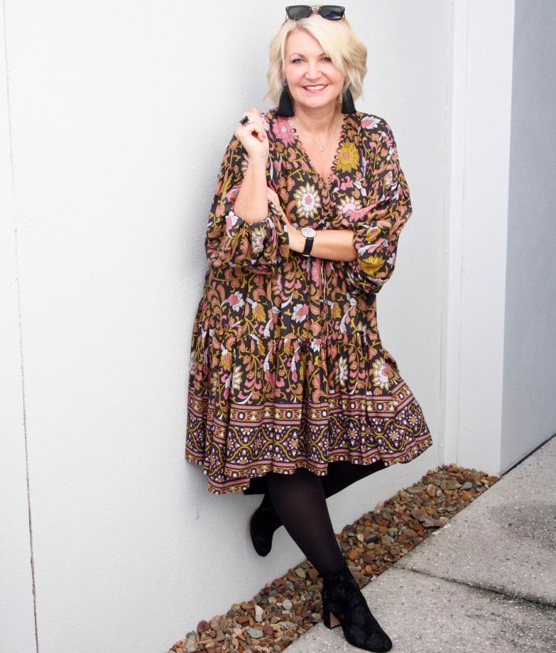 ef50e1e8e0 stylish autumnal threads. Desert Rose Billow Sleeve Dress  (M)   Bohemian  Traders ...