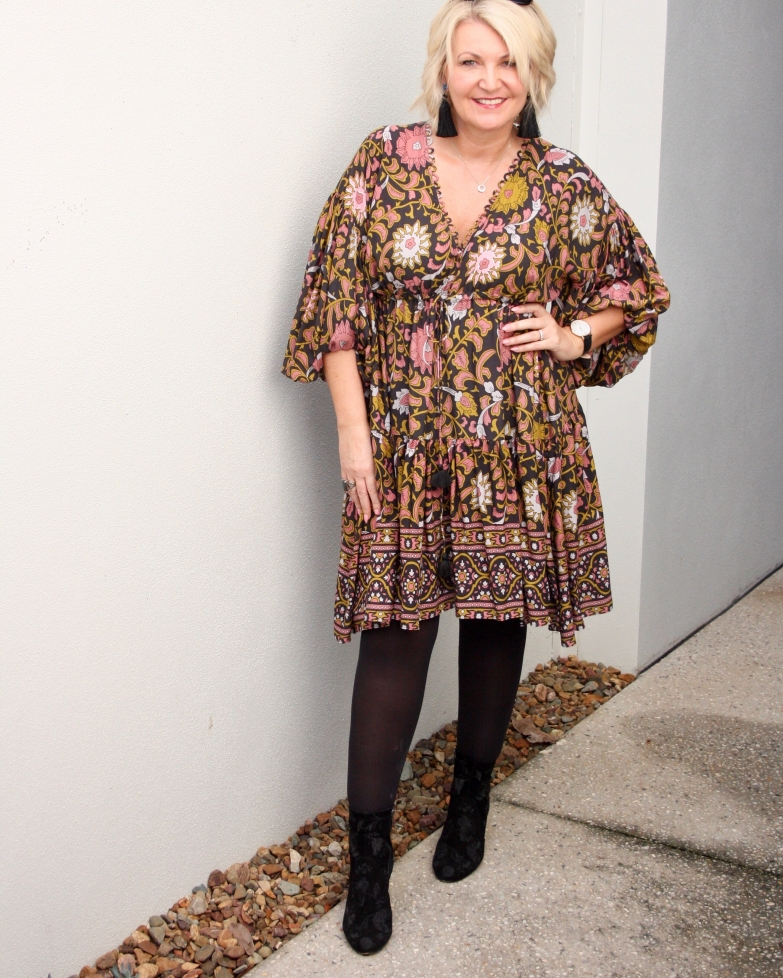 dddf589f10 Desert Rose Billow Sleeve Dress  (M)   Bohemian Traders
